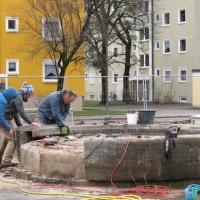 Abbau des Spenderbrunnens